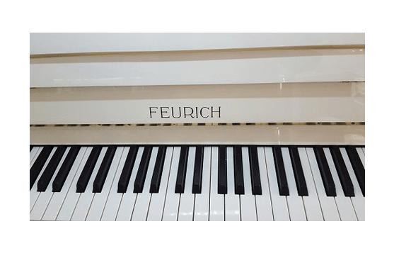 feurich klavier weiss poliert 030 66933733 pianohaus listmann. Black Bedroom Furniture Sets. Home Design Ideas